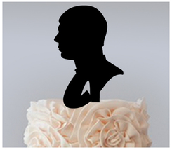 Wedding,Birthday Cake topper,Cupcake topper,silhouette star trek Package... - $20.00