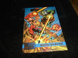 1995 DC Versus Marvel Fleer SkyBox Card #68 Warrior Vs. War Machine - $1.49