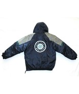 Vtg 90s Seattle Mariners Starter Pullover 1/3 zip Jacket Youth? L Pouch ... - $49.99