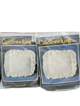 "2 VTG Candlewick Embroidery Kits ""Dutch Heart"" CWK-1 Needlecraft *OPENED... - $19.95"