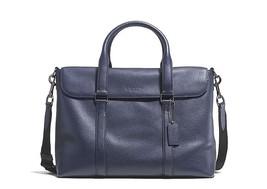 COACH MENS METROPOLITAN PEBBLED LEATHER MESSENGER BAG IN MIDNIGHT MSRP 5... - $249.99