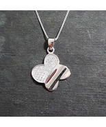 Brand New 14k White Gold On 925 Child Butterfly Pendant Charm & Chain - $35.47