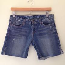 EUC! GUESS Jeans Denim Blue Cotton Stretch Sexy Cut Offs Designer Shorts 29 - $14.99