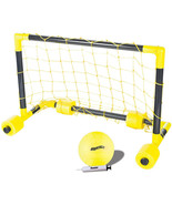 Water Polo Set Swimming Pool Toys Floating Game Goal Net Ball Land Outdo... - $44.09