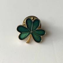 Hallmark Shamrock Lapel Tac Pin St Patricks Day Green Clover Vintage - $9.85