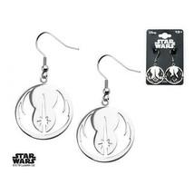 Disney Star Wars Stainless Steel Jedi Order Hook Dangle Earrings - $56.00
