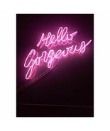 New Hello Gorgeous Neon Sign B Decor Poster Artwork Acrylic Light Gift 2... - $168.29