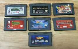 7 Gameboy Advance GBA Games Dragon Ball Z Frogger Hot Wheels Dexters Spi... - $19.79