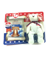McDonalds Collectible Beanie Ty Patriotic Liberty the Bear DOB Summer 1996 - $21.55