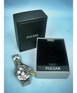 Pulsar Men's Stainless Steel Chronograph Watch In Original Box - Needs B... - $83.87