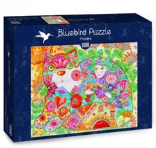 """NEW Bluebird Jigsaw Puzzle Game 1000 Tiles Pieces """"Flowers"""" - $28.89"""