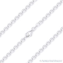 2.3mm Moon-Cut Ball Bead Link .925 Italy Sterling Silver Italian Chain Necklace - $27.91 - $43.35