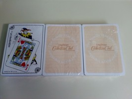 Longaberger 3 DECKS Playing Cards Collectors Club Standard Deck Stocking... - $9.85