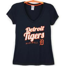 Detroit Tigers Baseball MLB Womens T-Shirt Shirt Blue Size L Large - $24.70