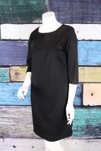 Liz Claiborne Black Ponte Knit Sequin Embellished Shift Dress 12 Career ... - $27.80
