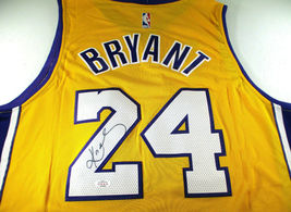 KOBE BRYANT / NBA HALL OF FAME / AUTOGRAPHED L.A. LAKERS PRO STYLE JERSEY / COA image 1