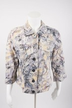 Chico's Women's Jacket 0 Small Sz 4 Button Front Lightweight Watercolors... - $24.74