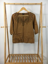 =Talbots Women's Pleasant Brown Pullover Top Shirt Size SP - $7.67