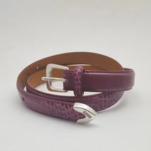 Ralph Lauren Pinkish Purple Faux Alligator Skin Italian Leather Belt - $17.82