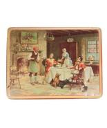 Vintage English Tavern Scene Tin - Hinged Lid MacFarland Lang Biscuit Box  - $18.70