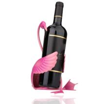 Flamingo Wine Holder Bottle Rack Metal Handicraft Home Decoration Party ... - $25.74