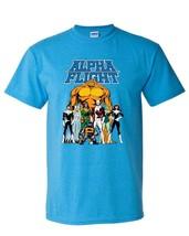 Alpha Flight T-shirt Aurora Guardian Puck Sasquatch Shaman 90s Marvel blue tee image 1