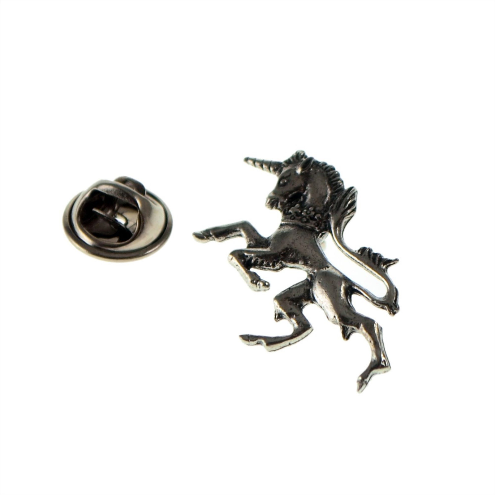 pewter Unicorn Horse tie pin, Lapel Pin Badge, in gift box