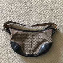 Leather & Canvas Small Coach Purse Handbag - ₹2,329.99 INR