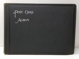 Antique Victorian Used Postcard Album Keepsake Scrap Book Patent 1876 Ha... - $24.74