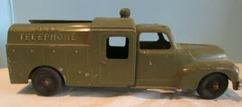 Vintage Hubley Kiddie Toy No. 469 Green Bell Telephone Truck Made In USA  - $56.10