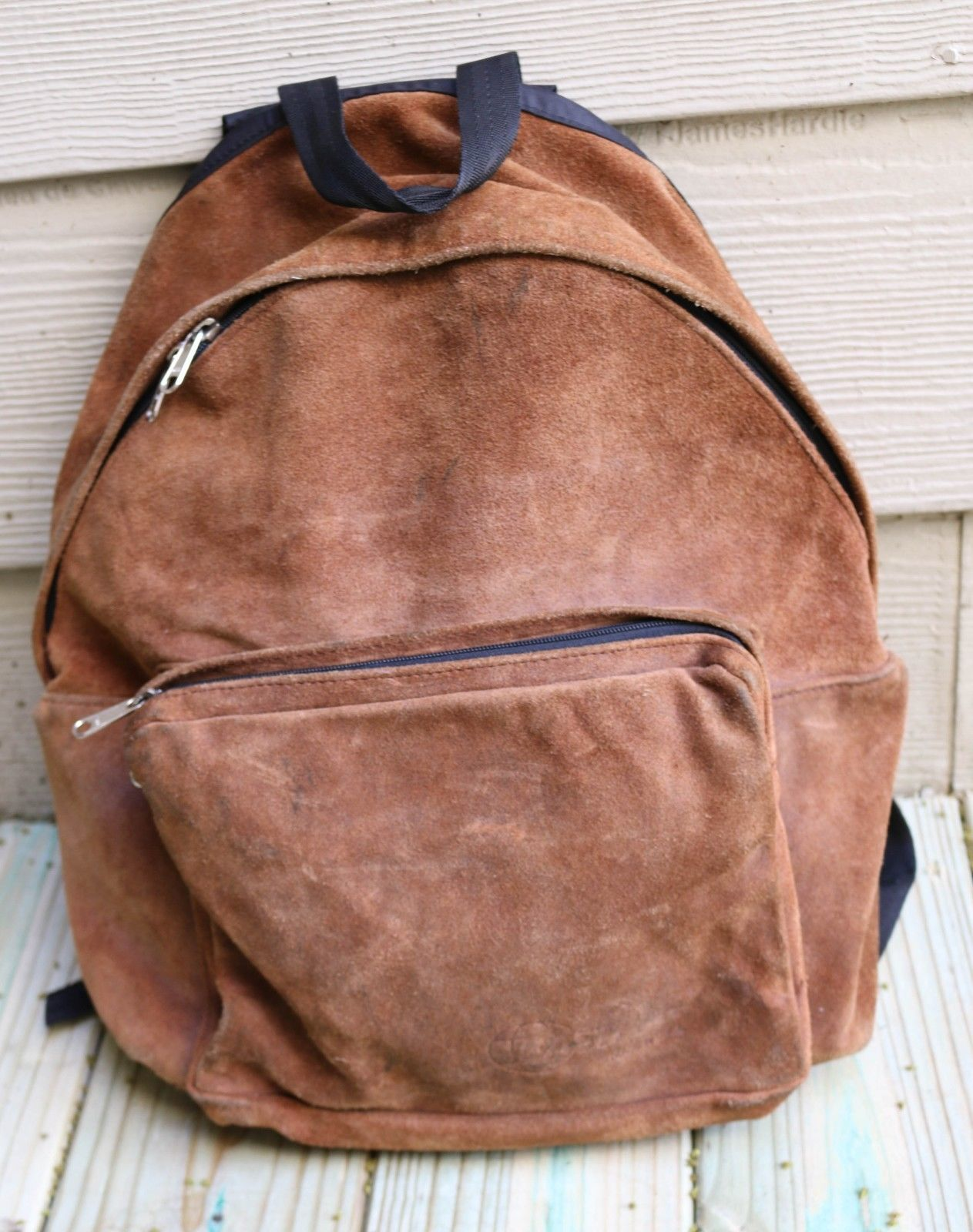 Vintage 80s EASTPAK Brown All Suede Leather and 50 similar items