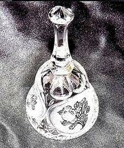 Cut Glass Bell with Detailed Floral Design AA18-11890  Heavy Vintage image 5