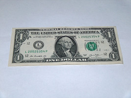 2013 $1 Dollar Bill US Bank Note Date Year Birthday 2002 5354 Fancy Mone... - $13.78