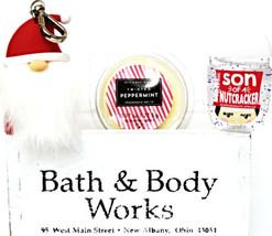 Bath and Body Works Twisted Peppermint Pocketbac, Santa Holder & Wax Melt - $19.29