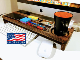 Desktop Organizer, Docking Station, Keyboard Rack, Desktop Shelf, Office... - $759,41 MXN