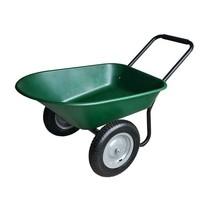 Garden Beautification Tool Poly Body Steel Frame Dual Wheel Yard Cart Gr... - $112.99