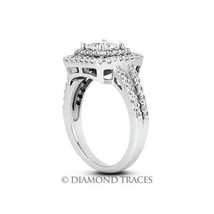 2.90ct J-SI3 Ideal Princess AGI Genuine Diamonds 950 Plat. Halo Wedding ... - $5,955.84