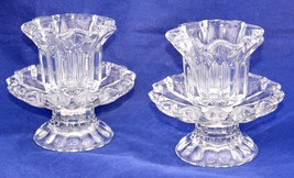 PartyLite Chantilly Glass Votive Candle Holders Pair Pillar or Tapered NEW - $30.00