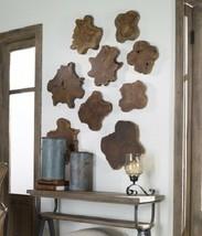 Set 3 Natural Teak Wood Wall Plaques Tiles Tabletop Decor Trivet New - $239.40
