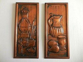 Set of Vintage Copper Wall Hanging Kitchen Art Made in Holland Signed - $46.39