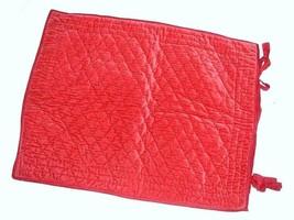 Pottery Barn 1 Rich Red Velvet Reversible To Silk Quilted Standard Pillow Sham - $29.67