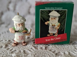 Hallmark Kiss The Clause Christmas Ornament 1988 - $6.78
