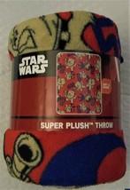 "STAR WARS 40"" X 50"" SUPER PLUSH THROW BLANKET CHEWBACCA Disney 100% Poly... - $11.37"