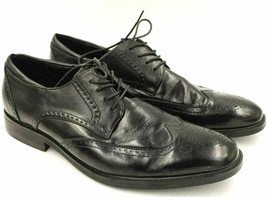 Joseph Abboud Men Leather Wingtip Oxfords Size US 11D Black - €29,76 EUR