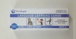 Think Psych Language Learning Cards Level 1 First Actions NEW SEALED - $36.45