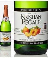 Kristian Regale Sparkling Fruit Juices 4 Packs (Peach) - $29.39