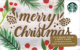 Starbucks 2016 Merry Christmas Collectible Gift Card New No Value - $2.99