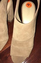New Michael Kors Anise Open Toe Beige High Heels sz 9.5 - $119.99