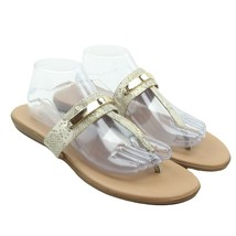 Aerosoles ON THE CHLOCK Womens Faux Leather Snakeskin Print Thong Sandal... - $39.59