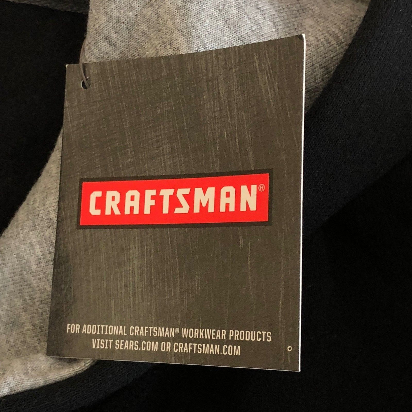Craftsman Tools Hoodie Sweatshirt Mens  L Black Warm Heavy Rugged image 6
